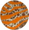 rug #1320619 | round orange damask rug
