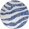 rug #1320667 | round blue abstract rug
