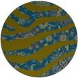rug #1320695 | round green damask rug