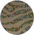 rug #1320731 | round brown damask rug