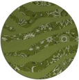 rug #1320747 | round green damask rug