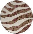 rug #1320779 | round beige animal rug