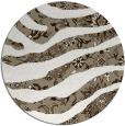 rug #1320783 | round white animal rug