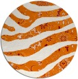 rug #1320835 | round orange abstract rug