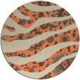 rug #1320839 | round orange damask rug