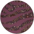 rug #1320863 | round purple animal rug