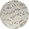 rug #1320927 | round beige damask rug
