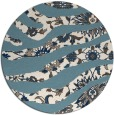 rug #1320931 | round blue-green abstract rug