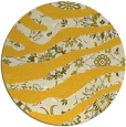 rug #1320939 | round yellow abstract rug