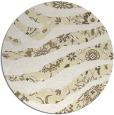 rug #1320943 | round yellow damask rug