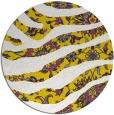 rug #1320947   round yellow damask rug