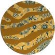 rug #1320951 | round light-orange animal rug
