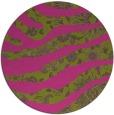 rug #1320967 | round light-green damask rug