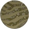 rug #1320971 | round light-green damask rug