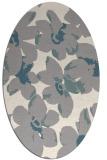 rug #1321475 | oval white natural rug