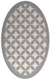 rug #1321635 | oval white borders rug