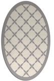 rug #1321655 | oval white traditional rug