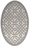 rug #1321695 | oval white traditional rug
