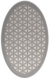 rug #1321775   oval beige borders rug