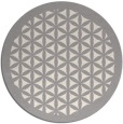 rug #1321783 | round white traditional rug