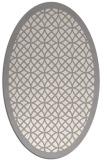 rug #1321915 | oval white geometry rug