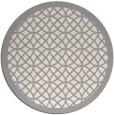 rug #1321923 | round beige borders rug