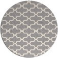 rug #1322103 | round white traditional rug