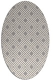 rug #1322175 | oval white check rug