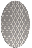 rug #1322255 | oval white traditional rug