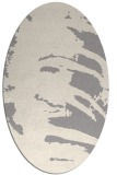 rug #1322335 | oval white abstract rug