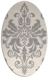 rug #1322395 | oval white traditional rug