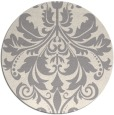 rug #1322403 | round white traditional rug