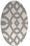 rug #1322500 | oval beige graphic rug