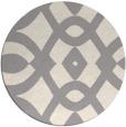 rug #1322508 | round white graphic rug