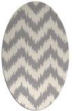rug #1322560   oval beige stripes rug