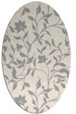 rug #1322620 | oval white natural rug