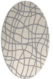 rug #1322660 | oval white check rug