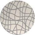rug #1322668 | round beige check rug