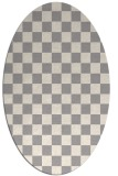 rug #1322680 | oval white check rug