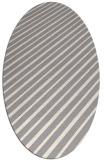 rug #1322840   oval white stripes rug