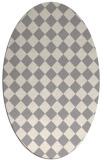 rug #1322860 | oval beige check rug