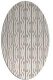 rug #1322880 | oval white retro rug