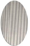 rug #1322960 | oval white stripes rug