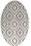 rug #1323040 | oval beige animal rug