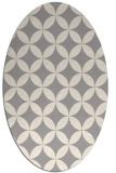 rug #1323060 | oval beige circles rug