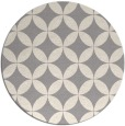 rug #1323068 | round white traditional rug