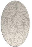 rug #1323120 | oval white circles rug