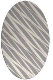rug #1323220 | oval beige stripes rug