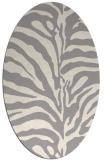 rug #1323240   oval white animal rug