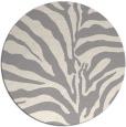 rug #1323248 | round white stripes rug